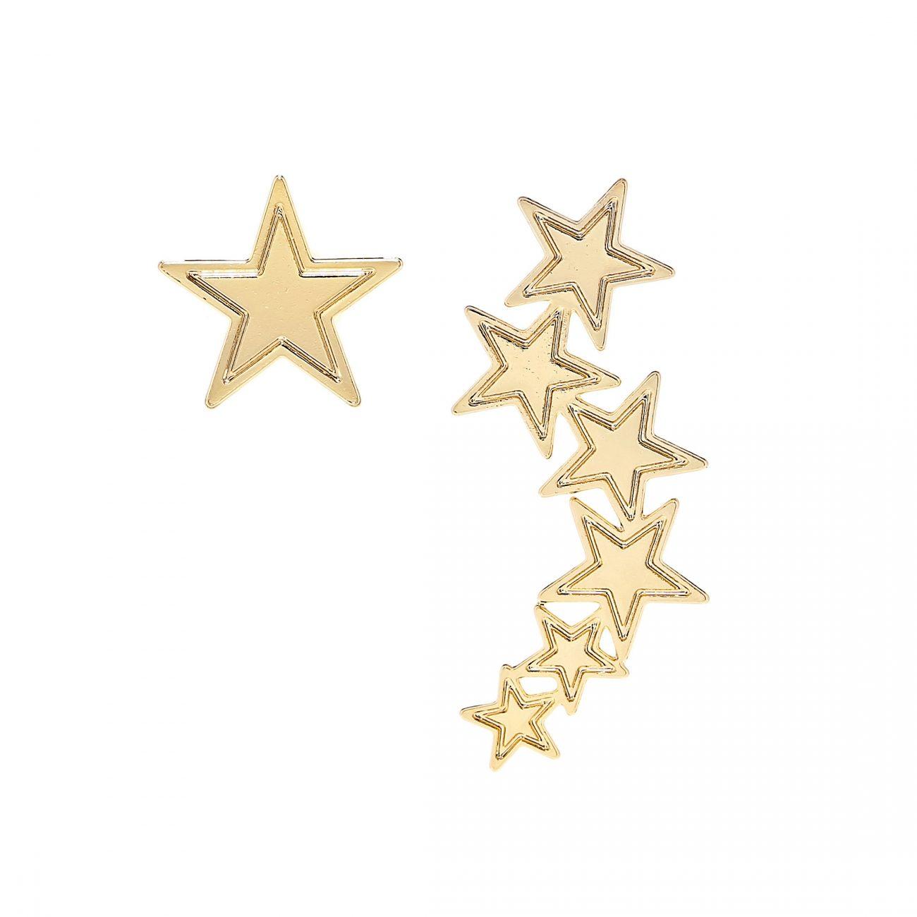 ASYMMETRIC-STARS-EARRING