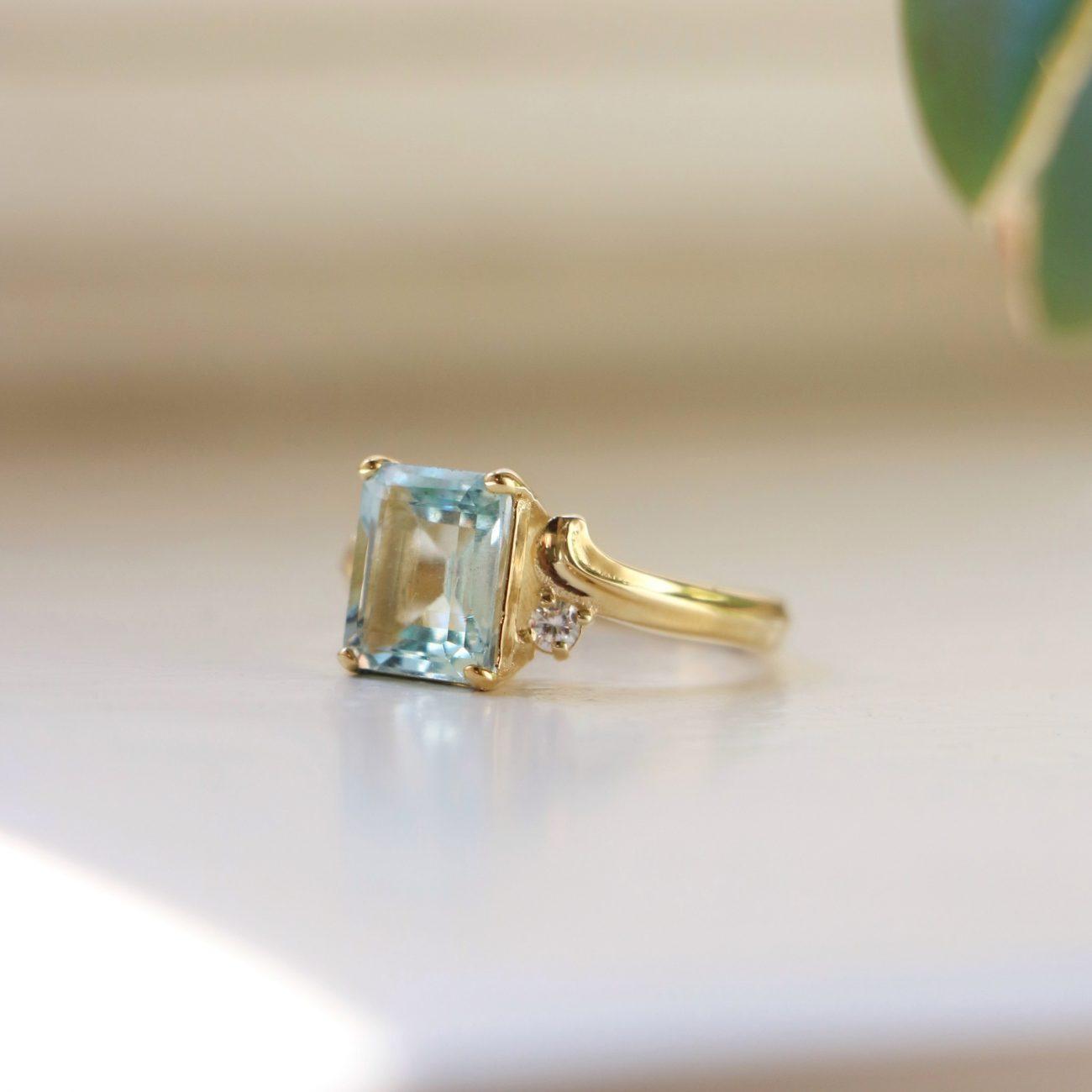טבעת אמילי אקווה מרין